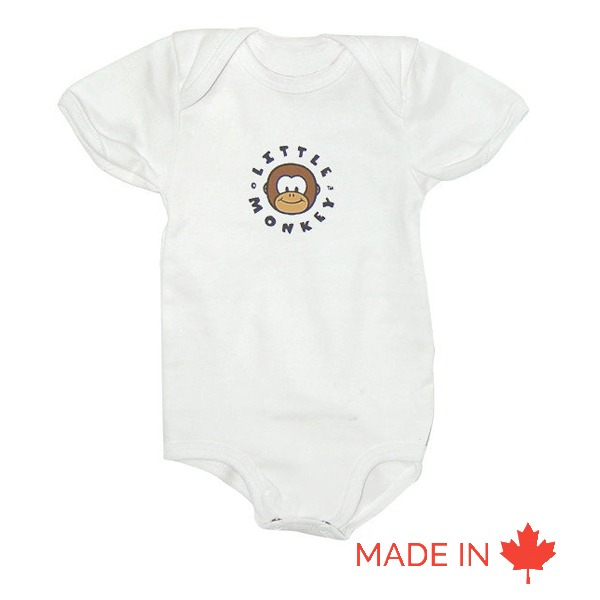 Baby Short Sleeves Shirt One Piece (Bodysuit) - Custom made in Canada by Tex-Fab - 44-5163