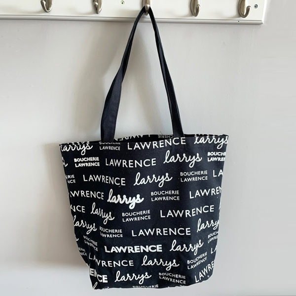 reusable polycotton black tote  bag made in Quebec by Tex-Fab 44-5163