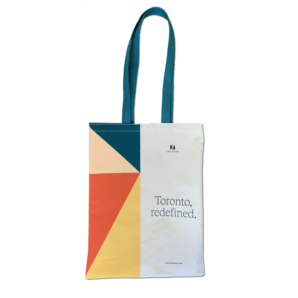 Personalized natural cotton canvas bag Made in Quebec by Tex-Fab